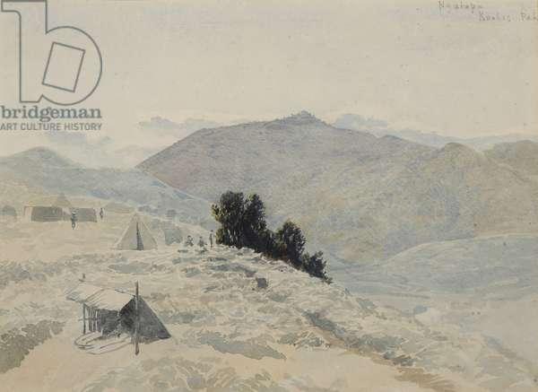 Ngatapa, Te Kooti's Pa, c.1869 (w/c on paper)