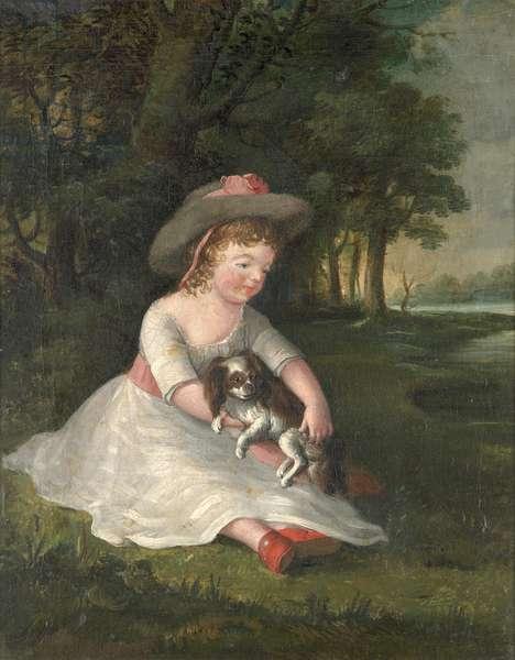 Portrait of George Dawe as a child, c.1784 (oil on canvas)