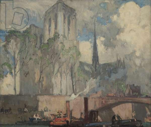 Notre Dame de Paris (oil on board)