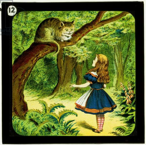 Alice in Wonderland, Part 2 - A Mad Tea Party, c.1900 (colour slide)