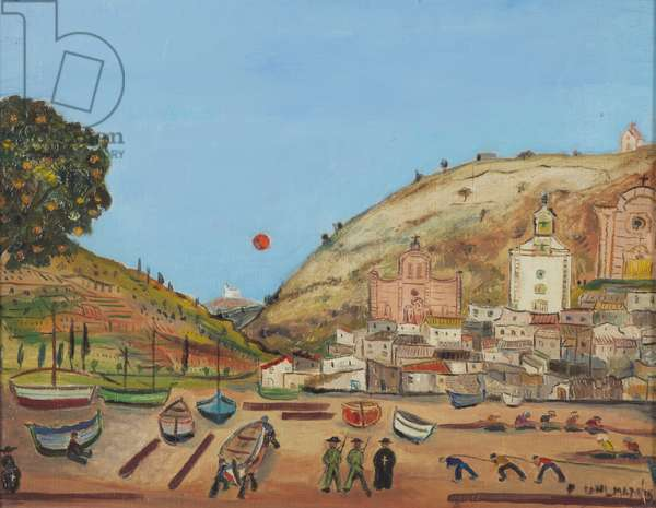 Tossa, 1936 (oil on hardboard)