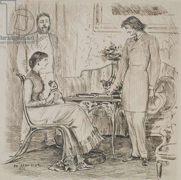 Ready Tact, drawing for 'Punch', 13th July 1878 (pen & ink on paper)
