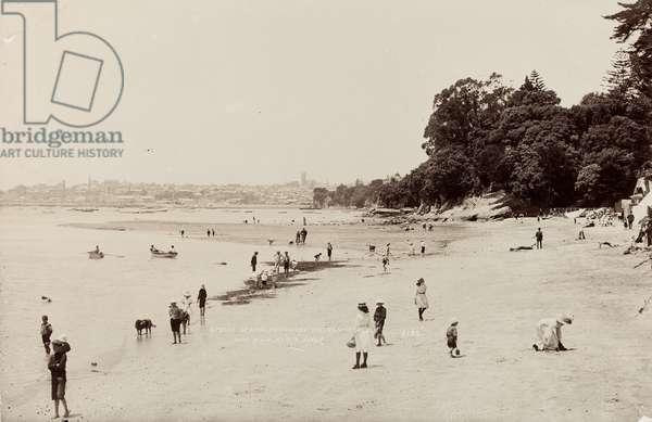 Shelly Beach, Ponsonby, Auckland, 1910 (b/w photo)
