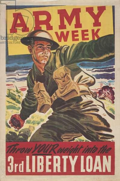 'Army Week', 1943 (colour litho)