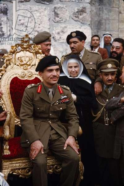 King Hussein of Jordan, Bethlehem, West Bank, c.1958 (photo)