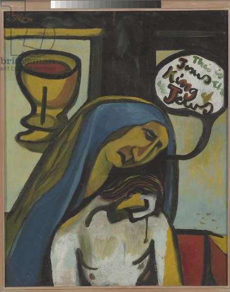 The King of the Jews, 1947 (oil on cardboard mounted on hardboard)