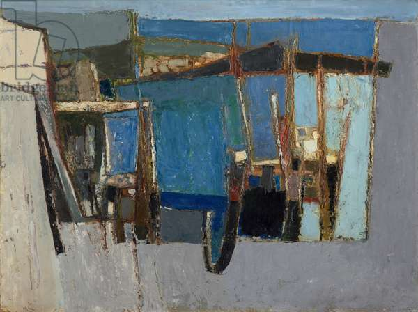 Summer Harbour, 1955 (oil on board)