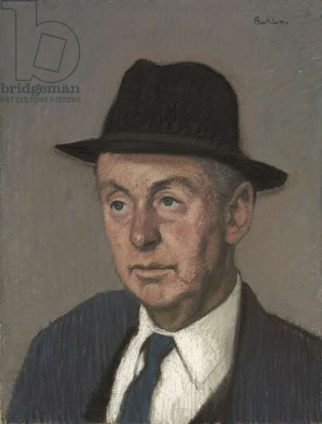 Portrait of Rex Nan Kivell, c.1969 (pastel on paper)
