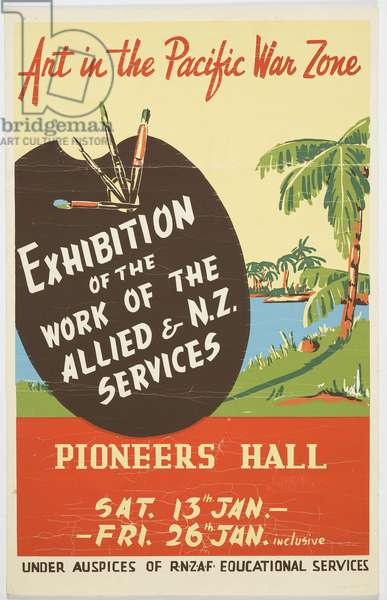 'Art in the Pacific War Zone' (colour litho)