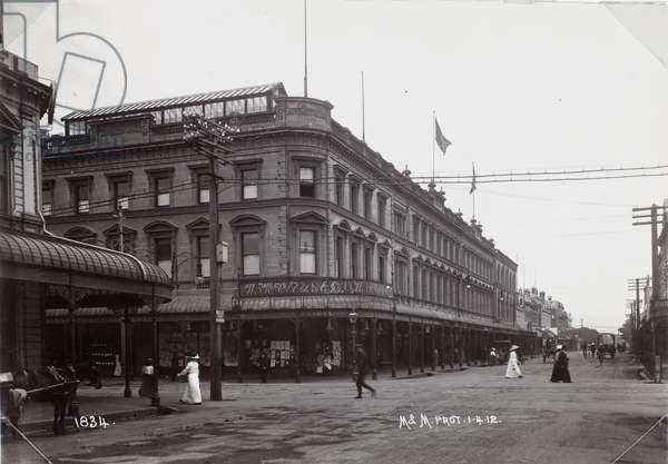 Waterloo House, Cashel St, Christchurch, c.1912 (b/w photo)