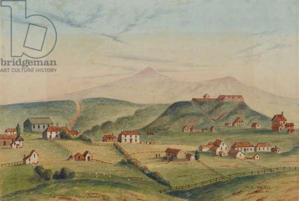 New Plymouth, Taranaki, 1860 (w/c on paper)