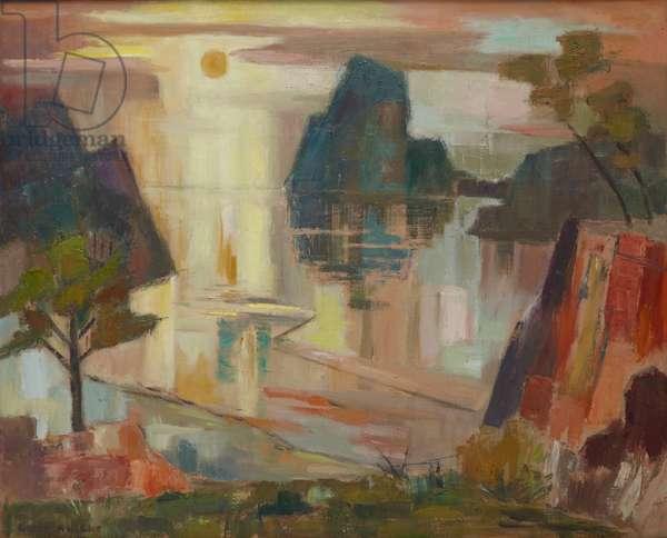 Sunset, Tauranga, c.1964 (oil on canvas)