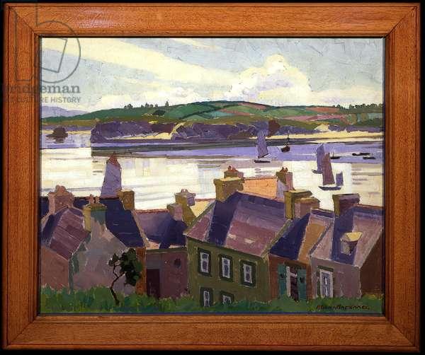 Morning calm, Camaret, 1926 (oil on canvas)