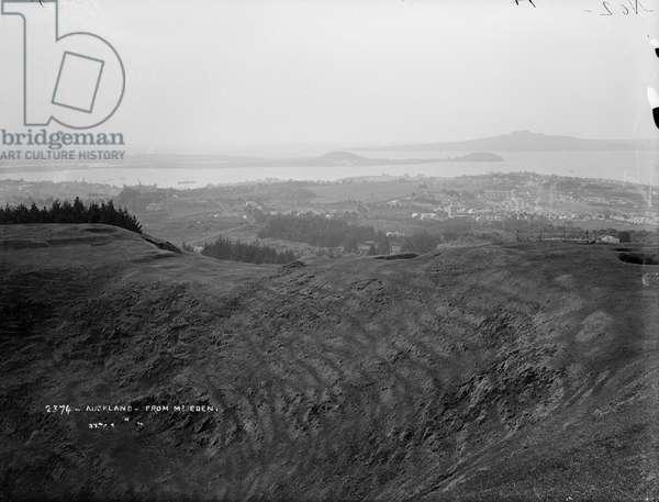 Auckland from Mount Eden, 1884 (silver gelatin print)