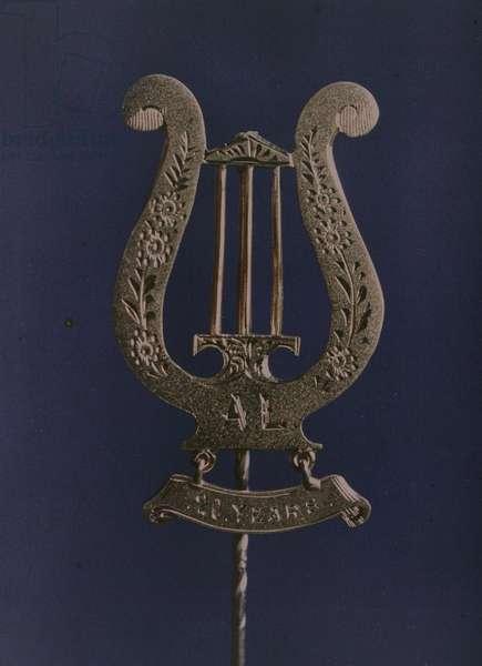 Liedertafel Badge, 1914 (photo)