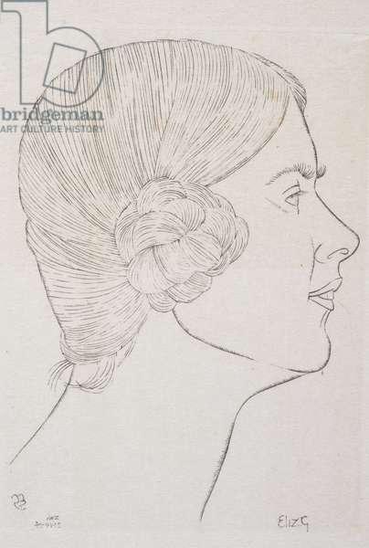Elizabeth Gill, 1924 (engraving)