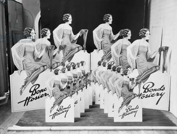 Publicity material for Bonds Charm Hosiery, 1932 (gelatin silver print)