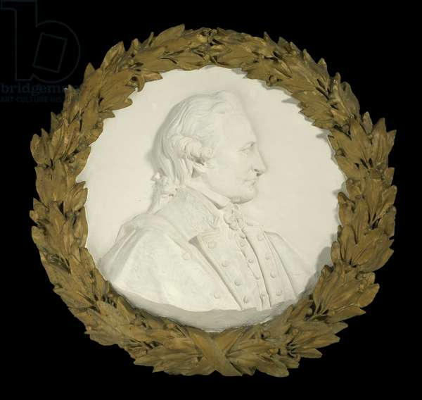 Portrait Medallion of Captain James Cook, 1911 (wood & plaster)