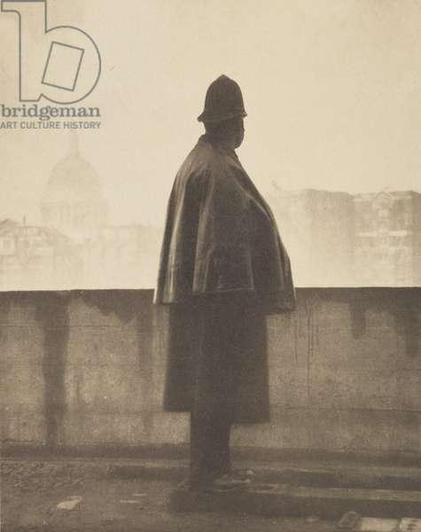 A London Policeman, 1920s (b/w photo)