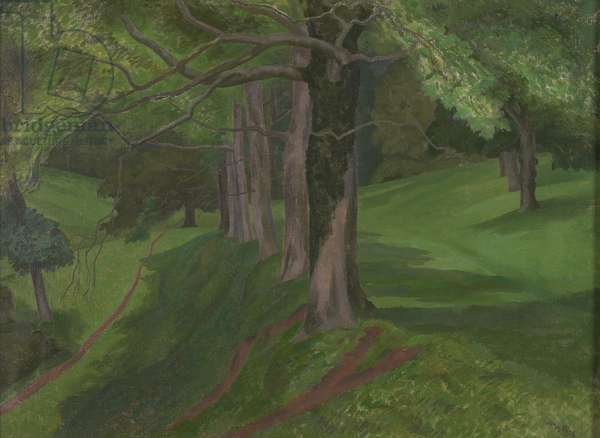 Luscombe Valley, c.1953 (oil on canvas)