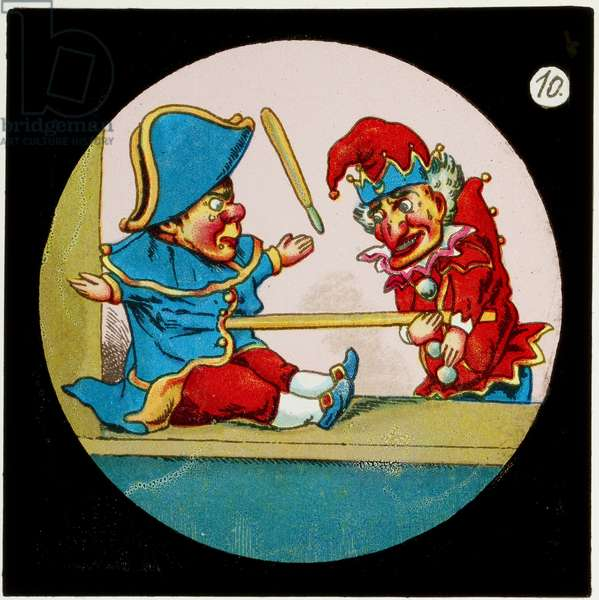 Scene from Punch & Judy, c.1900 (colour slide)