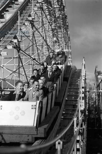 Rollercoaster, New Zealand Centennial Exhibition, Wellington, April 1940 (b/w photo)