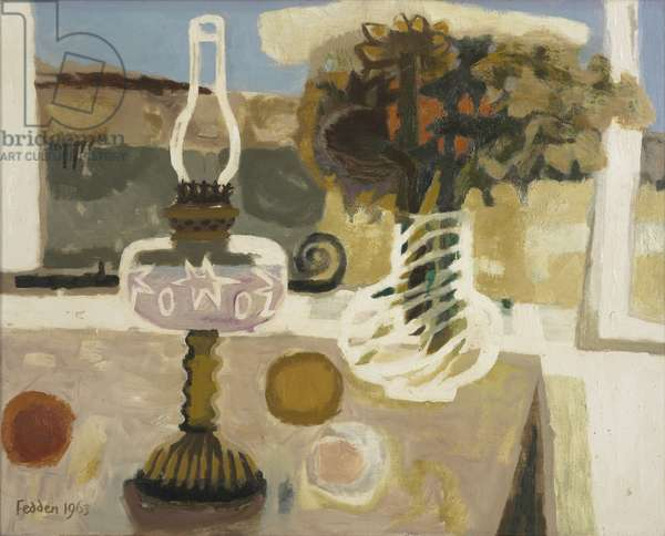 Still life with lamp, 1963 (oil on canvas)