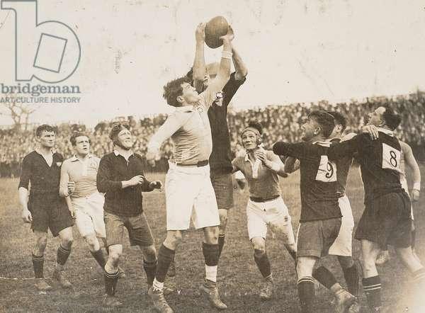 Rugby match - All Blacks, 1919 (gelatin silver print)