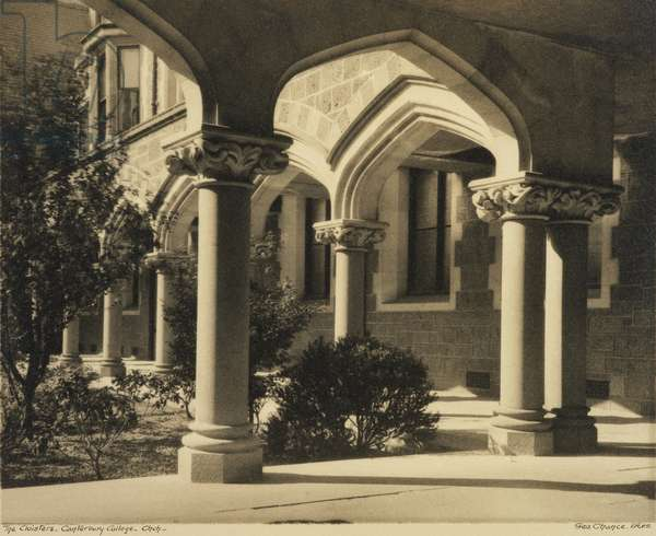 The Cloisters, Canterbury College, Christchurch, c.1933 (gelatin silver print)