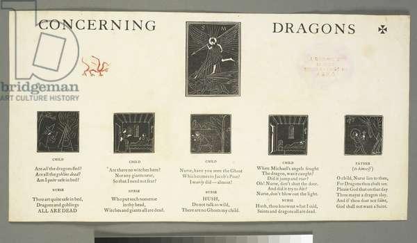 Illustrations to 'Concerning Dragons', 1919 (wood engraving & letterpress printing)