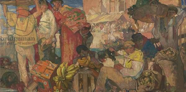 Mediterranean market, c.1916-17 (oil on canvas)