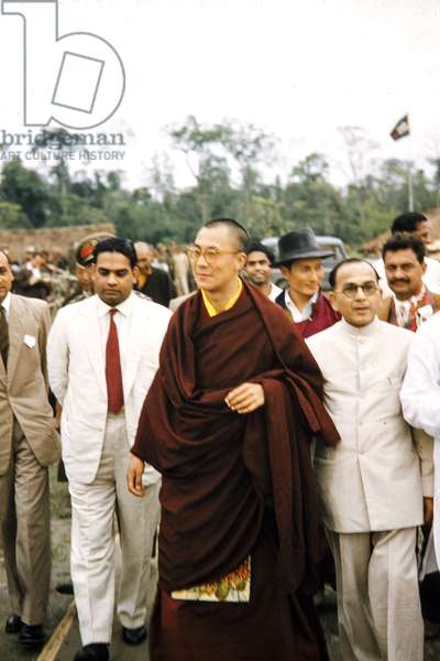 The Dalai Lama shortly after fleeing Tibet, India, 1959 (photo)