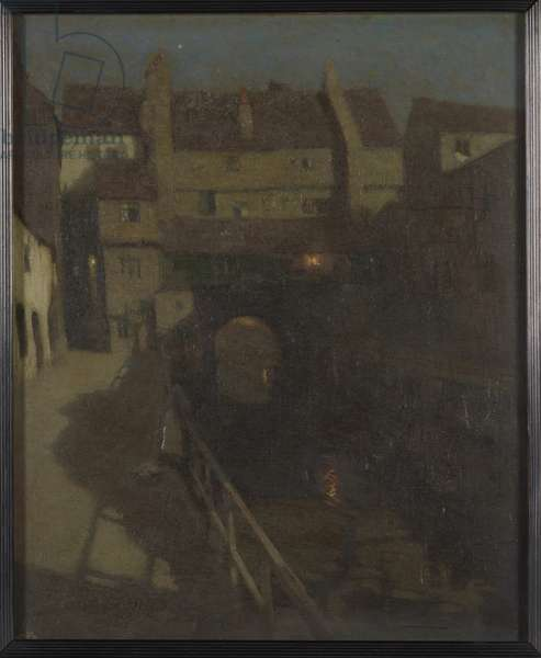 An Old Waterway (oil on canvas)