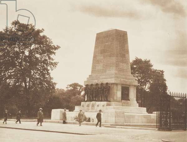 World War I Monument, 1920s (b/w photo)