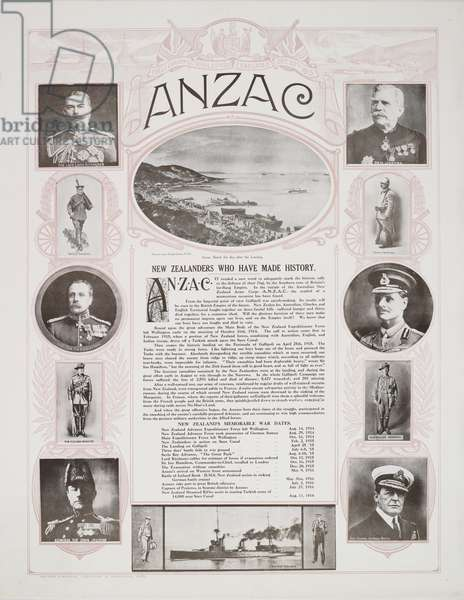 'ANZAC', 1916 (colour litho)