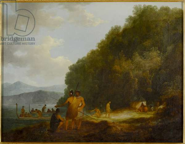 Ship Cove, Queen Charlotte Sound, c. 1788 (oil on canvas)