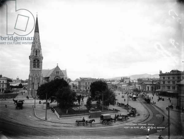 Cathedral Square, Christchurch, c.1905 (gelatin silver print)