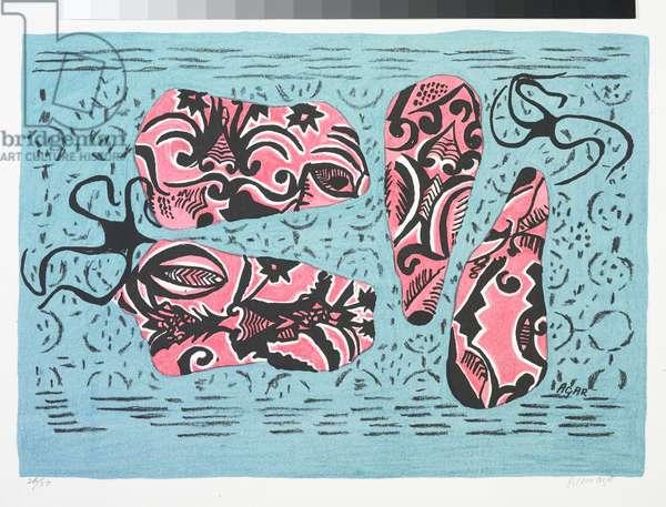 Shrimps at Sea, c.1948 (colour litho)