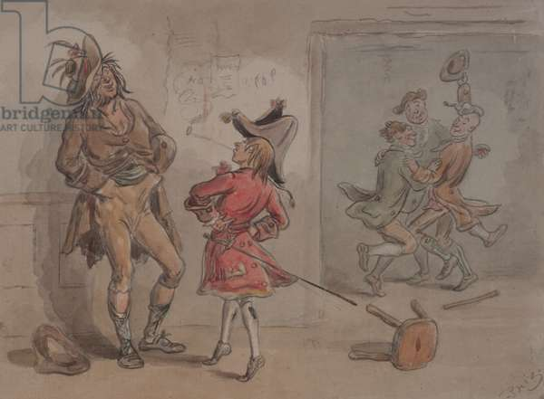 """Illustration to """"Barnaby Rudge"""" (w/c on paper)"""