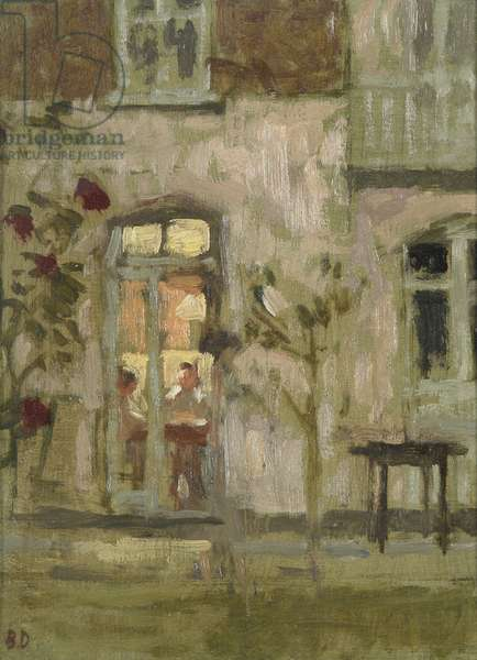 The French Window (oil on wood panel)