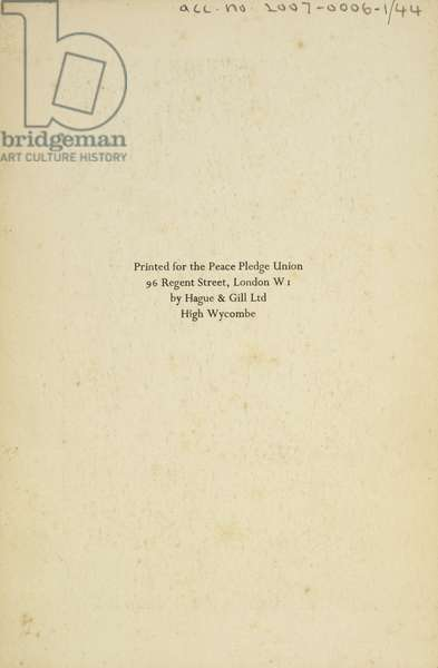 Reverse of Madonna and Child, 1937 (print) (see also 407699)