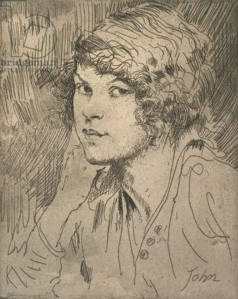 A Girl's Head, c.1914 (etching)