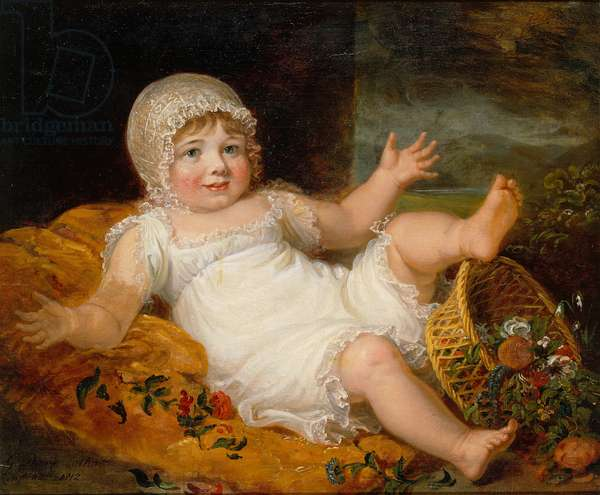 Study of a child, 1812 (oil on canvas)