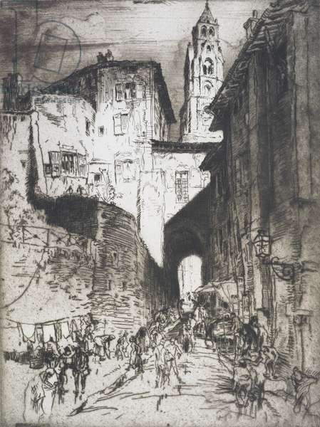Street in Puy, c.1913 (etching)