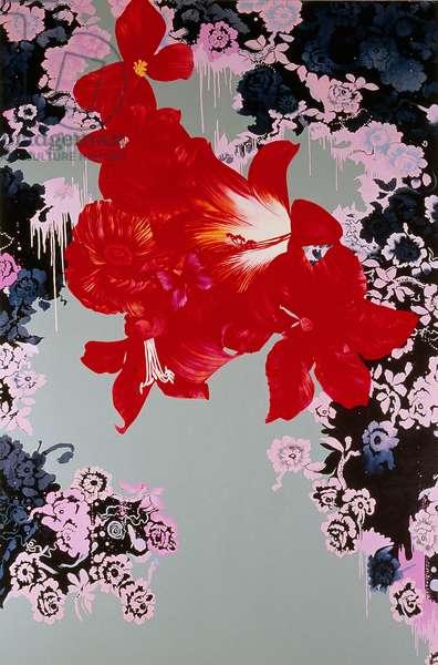 Red Flowers, 2007 (oil on linen)