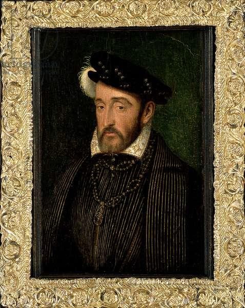 Henri II (1519-59) King of France (oil on panel)