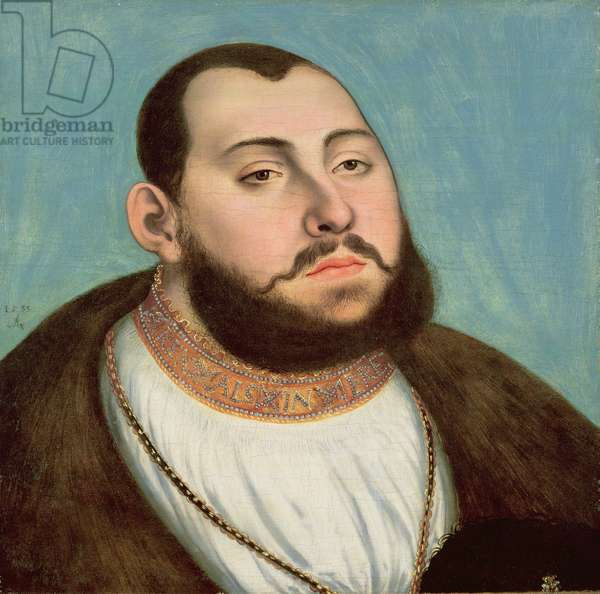Portrait of John Frederic the Magnanimous (1503-54) Elector of Saxony, 1533 (tempera & oil on canvas)
