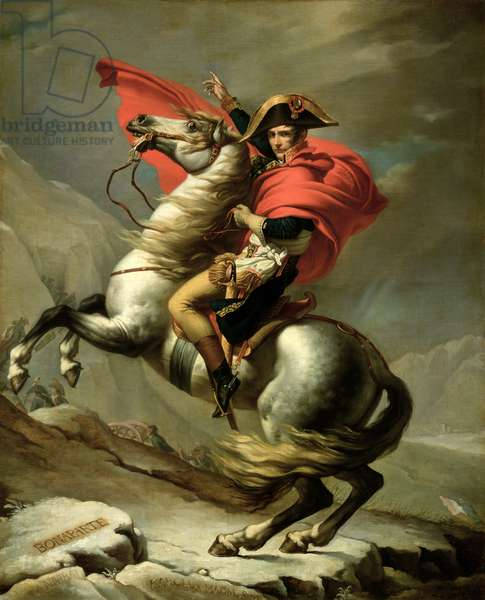 Napoleon Crossing the Alps, c.1801 (oil on canvas)