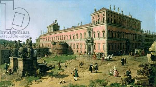 Plaza of the Quirinale, Rome (oil on canvas)
