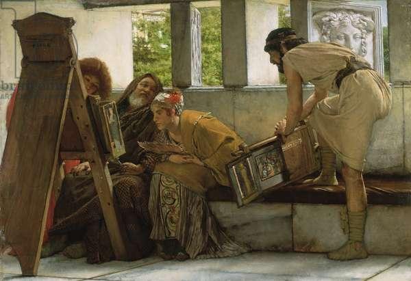 A Roman studio, 1874 (oil on panel)